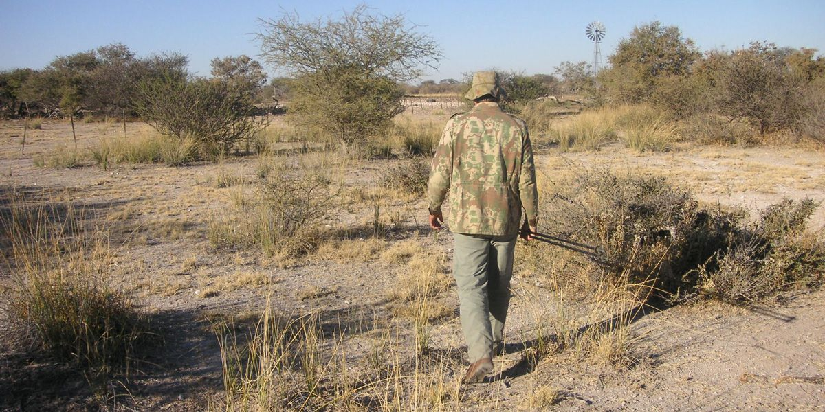 Hunting with Francois in Namibia on Farm land